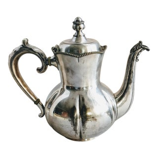 Early 20th Century Simpson Hall Miller Silver Plate Coffee Pot For Sale