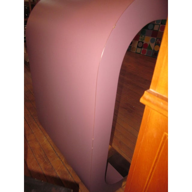 Vintage Postmodern Lavender Mauve Pink-Purple Waterfall Console Table For Sale - Image 9 of 11