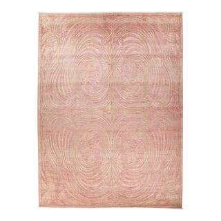 Pink Art Nouveau Area Rug For Sale