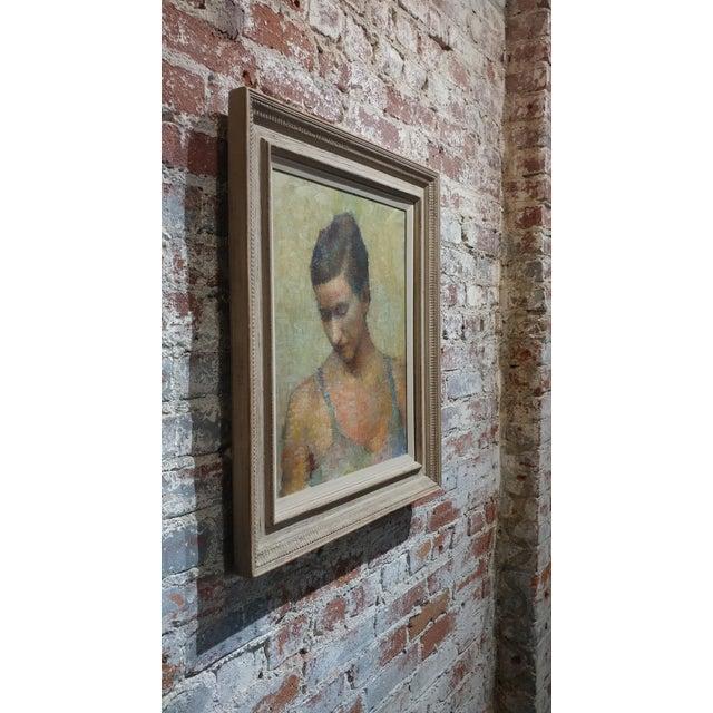 Stevan Kissel - Portrait of a Female Dancer - Oil Painting - Pointillism For Sale - Image 4 of 13