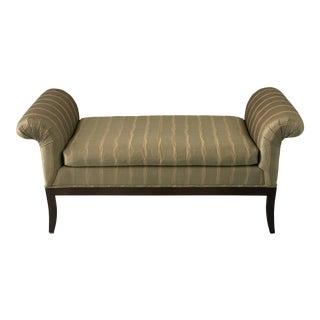 Classic Upholstered Kravet Ottoman Bench For Sale