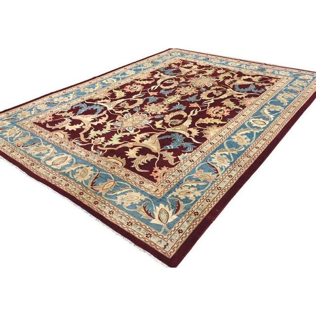 """Textile Kafkaz Peshawar Antoinet Red & Blue Wool Rug - 10'3"""" x 14' For Sale - Image 7 of 7"""