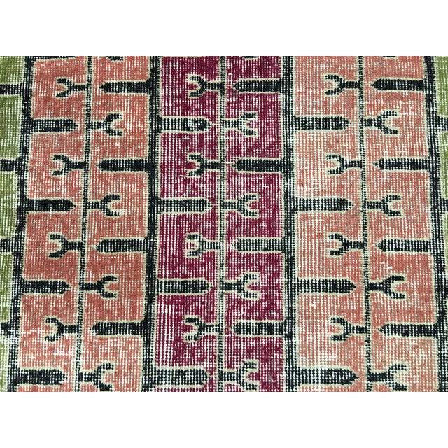 """Bellwether Rugs Two Zeki Muren Vintage Distressed Look Turkish Rugs - 3'5"""" X 6'10"""" - Image 5 of 8"""