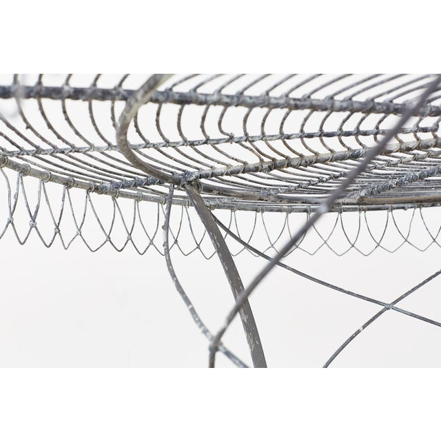 French Wrought Iron and Wire Garden Dining Table For Sale In San Francisco - Image 6 of 13