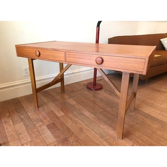 Two Drawer Danish Teak Desk - Image 2 of 5