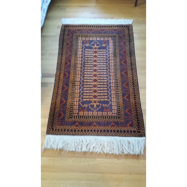 "Persian Shiraz Hand-Knotted Oriental Wool Rug - 4'10"" X 2'11"" - Image 2 of 11"