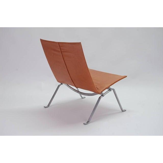 Poul Kjaerholm 1960s Vintage Early Poul Kjaerholm Pk22 Lounge Chair For Sale - Image 4 of 8