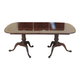 Heritage Heirloom Figural Mahogany Dining Room Table For Sale