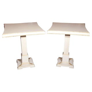 Grosfeld House Painted End Tables - Pair For Sale