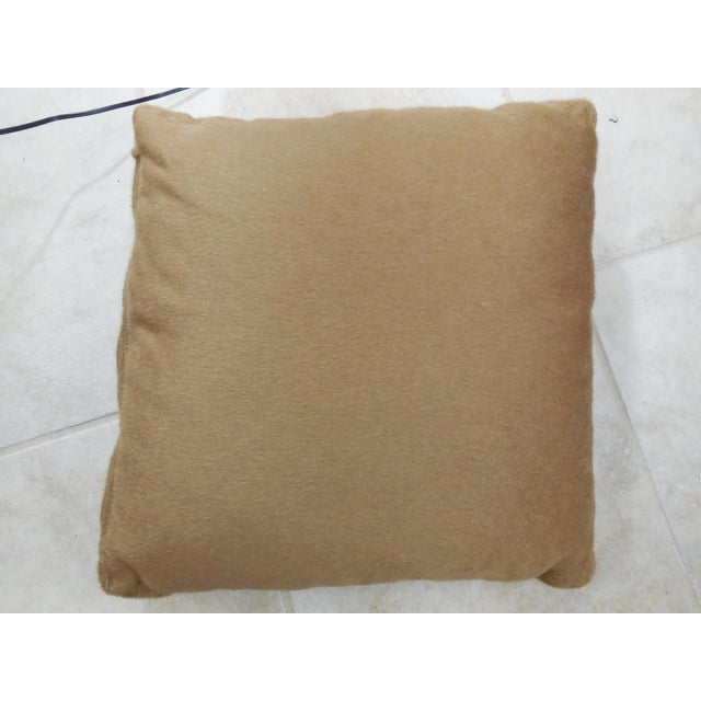 """Wool Mohair Coach 18"""" Square Pillow For Sale - Image 9 of 9"""
