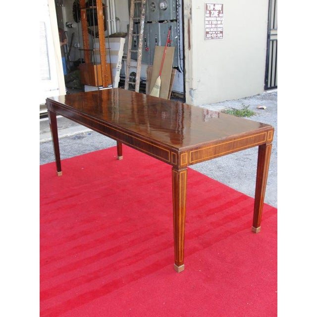 This amazing elegant and ornate dining/library table is made from Palisandro veneer and exotic inlaid wood in a classic...
