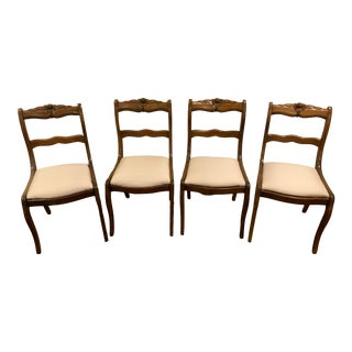 Antique English Dining Chairs - Set of 4 For Sale