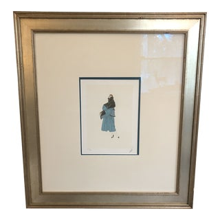 Collectible Signed Erte Lithograph of Stylish Woman For Sale