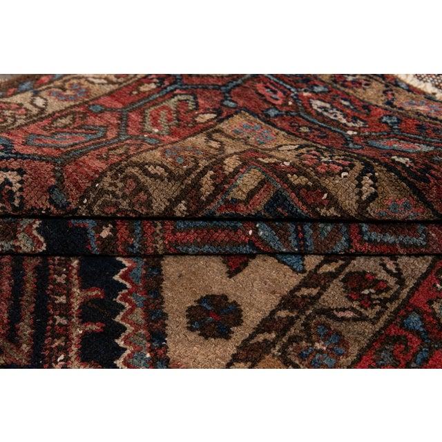 Vintage Heriz Wool Rug 3'7'' X 6'5'' For Sale - Image 4 of 13
