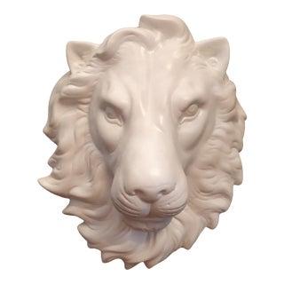 Lion Face Wall Art Unglazed Wall Sculpture For Sale