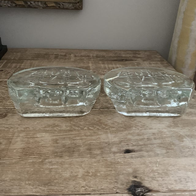 Blenko Glass Sailing Ship Bookends- a Pair For Sale In New York - Image 6 of 7