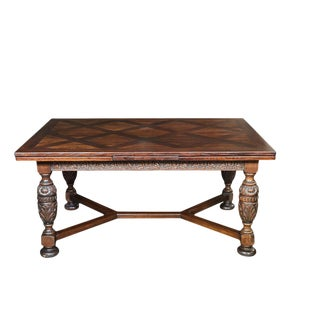 Renaissance Revival Draw Leaf Dining Table For Sale