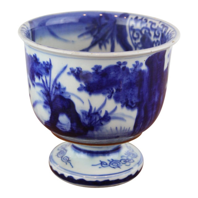 Antique Chinese Blue and White Urn For Sale