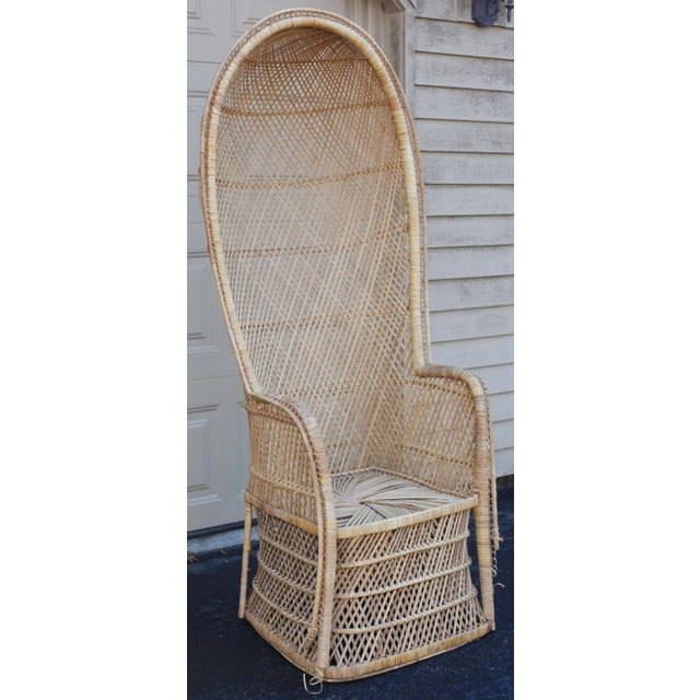 Vintage Rattan Porter Chair - Image 3 of 9
