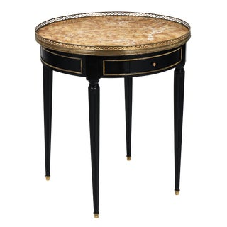 French Antique Bouillotte Table with Marble Top