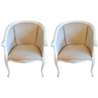 Louis XV Style Painted Side Chairs - A Pair For Sale