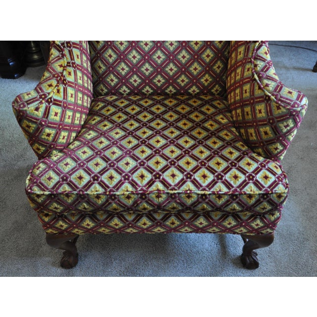 Contemporary Baker Wingback Chairs - A Pair For Sale - Image 3 of 8