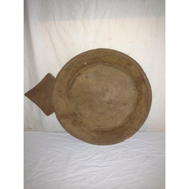 Asian Large 18th Century Ceylonese Teak Arrow Ceremonial Bowl For Sale - Image 3 of 8