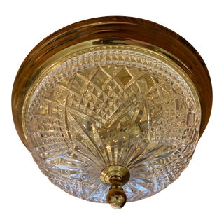 Waterford Crystal Ceiling Lamp For Sale