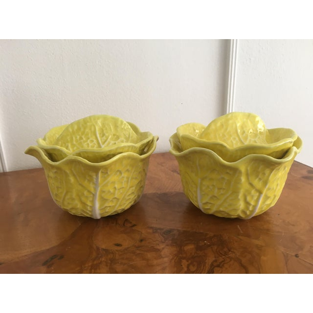 Ceramic Vintage Secla Yellow Cabbage Bowls- Set of 3 For Sale - Image 7 of 12