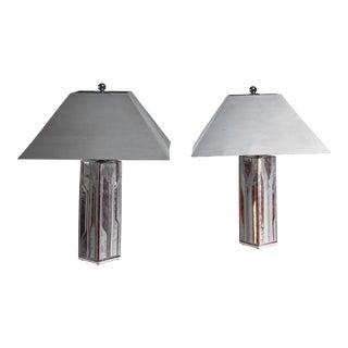 Per Rehfeldt Pair of Stoneware Table Lamps, Denmark For Sale