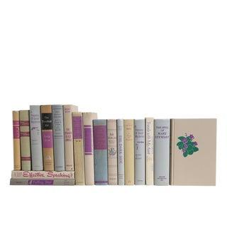 Midcentury Violet & Chiffon Book Set For Sale