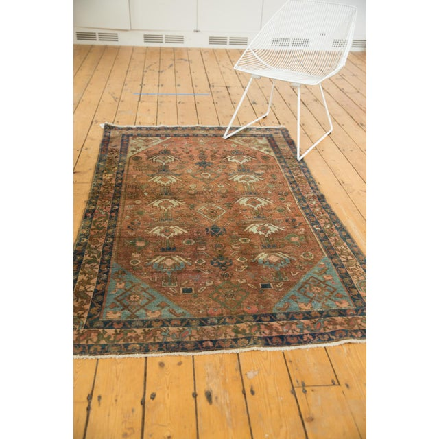 """Old New House Vintage Distressed Malayer Rug - 4' X 6'1"""" For Sale - Image 4 of 13"""