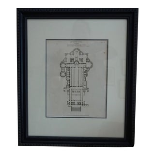 Framed 19th Century Architectural Engraving by Wilson Lowry