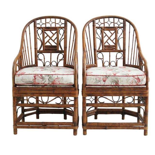 Bamboo Style Armchairs - Pair - Image 1 of 4