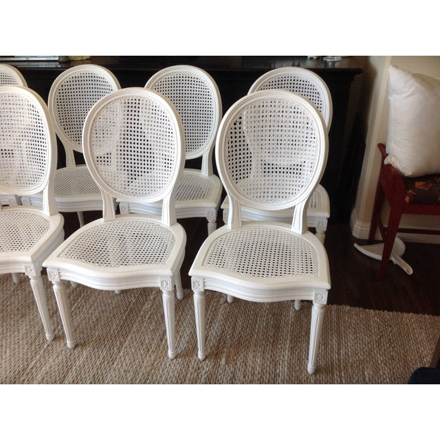 Louis XVI Dining Chairs - Set of 8 - Image 4 of 7