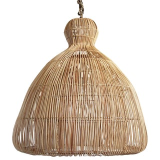 Rattan Mushroom Lantern Large For Sale