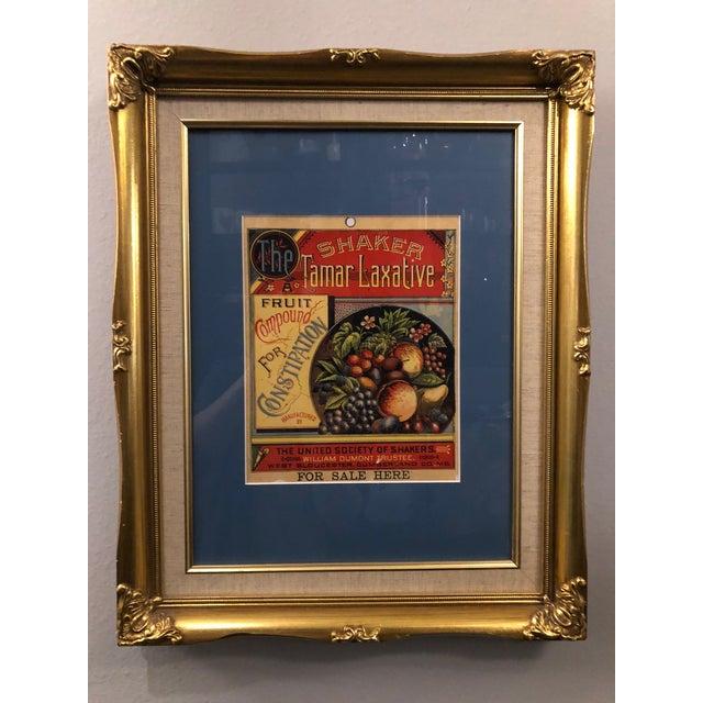 Hollywood Regency Custom Framed Tamar Laxative Artwork For Sale - Image 3 of 3