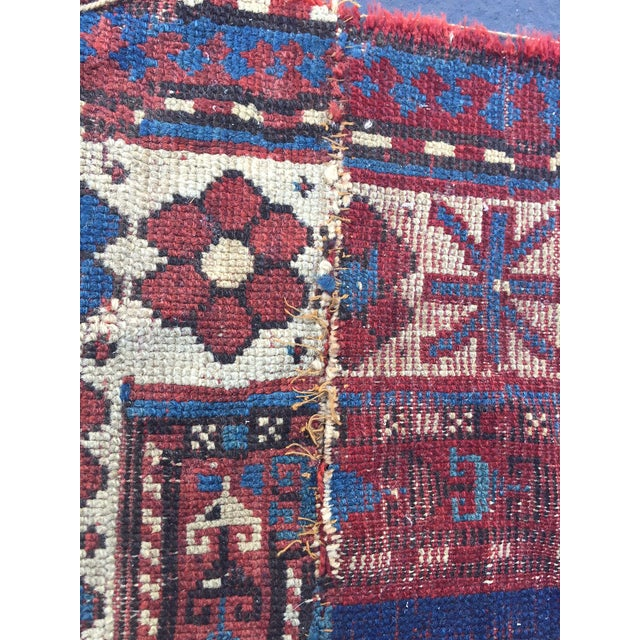 Antique Persian Rug Hand Knotted Wool Boho Chic Tribal