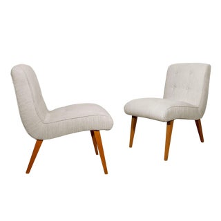 1950s Pair of Vostra Chairs by Walter Knoll, Beech, Felt, Germany For Sale