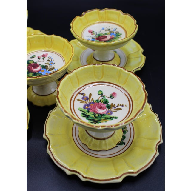 1940s 1940s Italian Dessert Plates and Compotes For Sale - Image 5 of 10