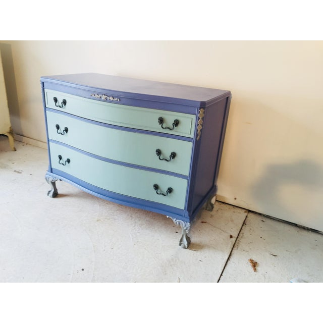 French 1940s French Provence Style Decor Painted Mahogany Dresser For Sale - Image 3 of 8