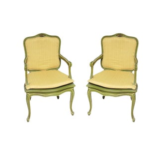 Antique Hollywood Regency French Chairs - a Pair
