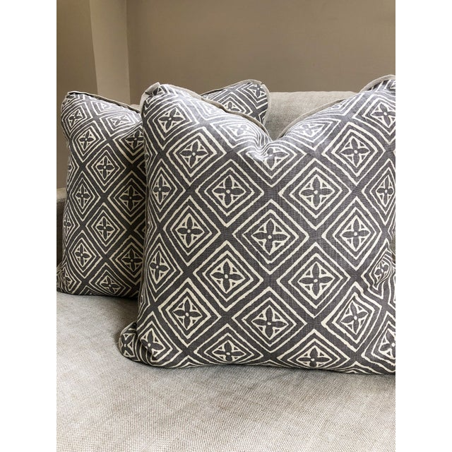 2010s Transitional Quadrille China Seas Designer Made Fiorentina Throw Pillows - a Pair For Sale - Image 5 of 9