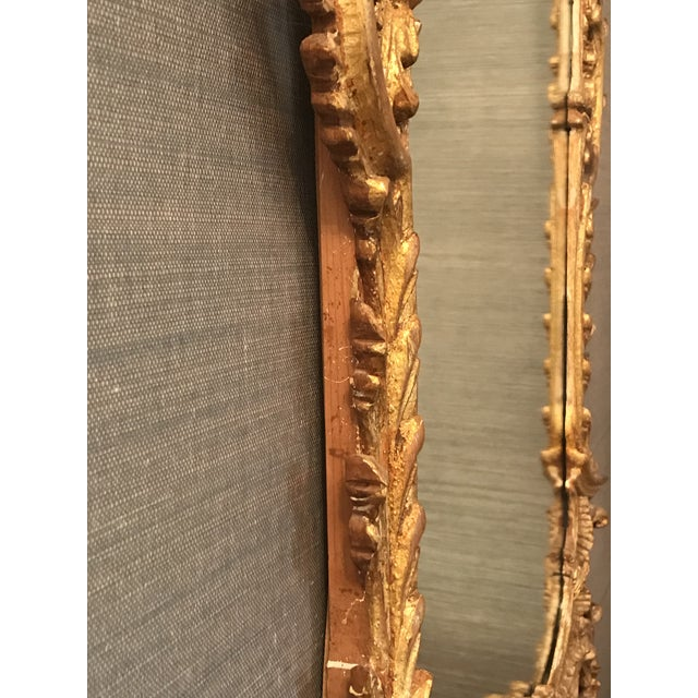 Early 20th Century Belle Époque Gold Carved Wood Mirror For Sale - Image 5 of 6