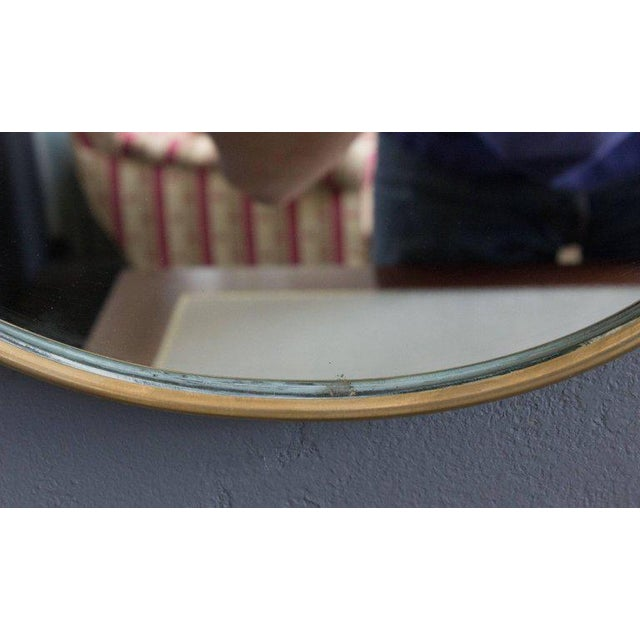 Mid-Century Modern Italian Brass Mirror For Sale - Image 4 of 9