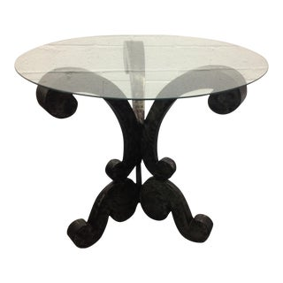 Decorative Brushed Steel Center Table For Sale