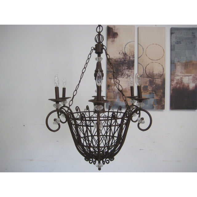 Oil Rubbed Bronze Candle Style Chandelier - Image 4 of 8