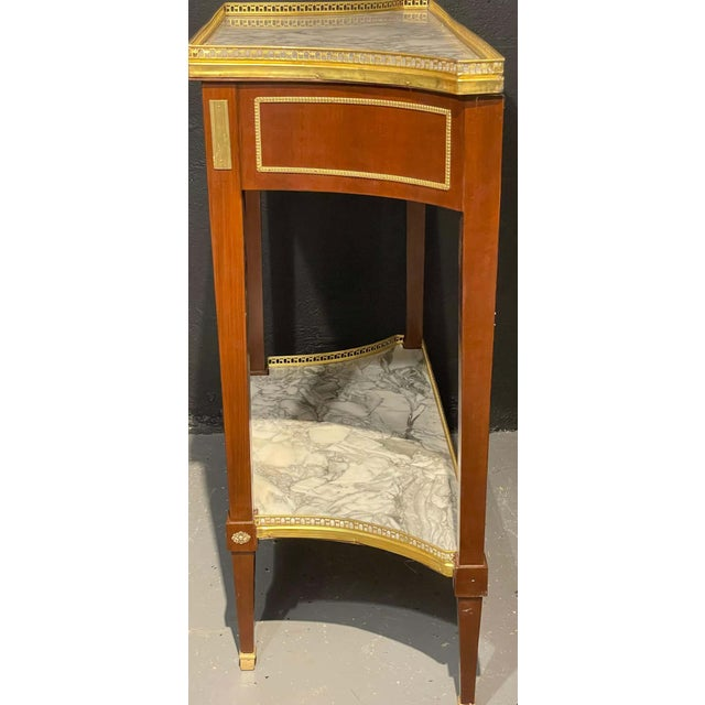 Russian Neoclassical Console Tables, Sofa Tables or Bedside Stands - a Pair For Sale - Image 9 of 12