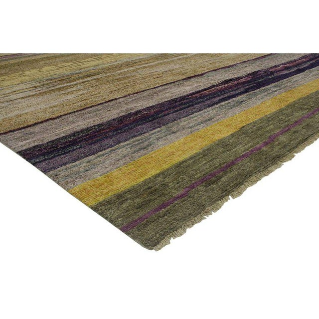 Impeccable craftsmanship and modern design, this contemporary Moroccan style rug is a beautiful balance of warm and cool....