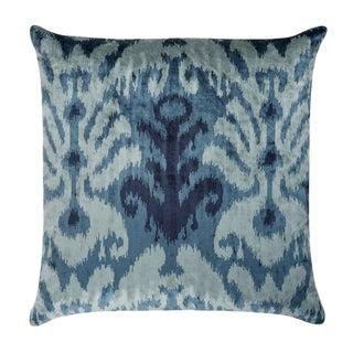 """Piper Collection Blue Velvet Pattern """"Bo"""" Pillow"""